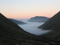 Ullswater from Kirkstone Pass - temperature inversion